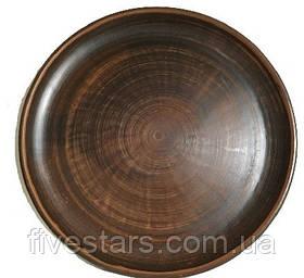 Тарелка -блюдо глиняная  Гладкая 300 мм