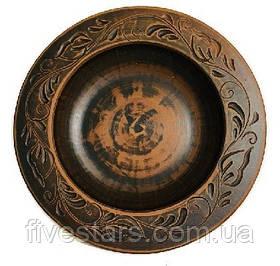 Глиняная тарелка   Паста декор   250 мм