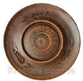 Тарелка глиняная   Колосок 190 мм.