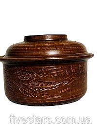 Кастрюля глиняная малая  Колос  1,5  л