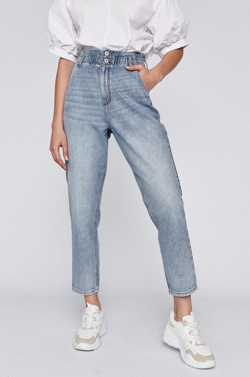Женские джинсы c завышенной талией голубые Medicine 38