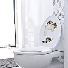 Интерьерная наклейка 3D Кот (30х20см)