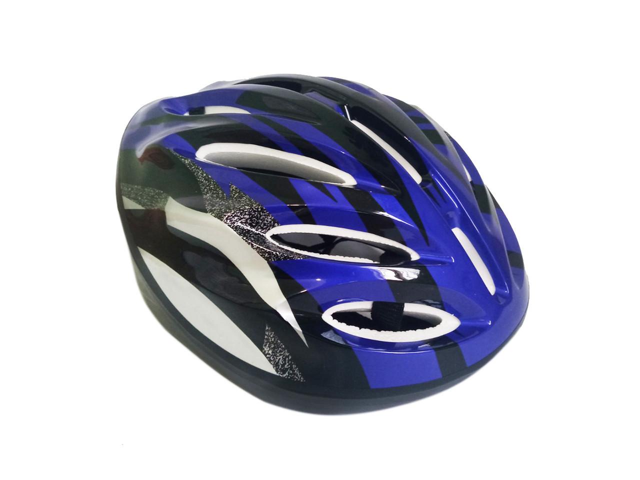 Детский вело шлем синий цвет