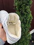 🔥 Кроссовки ботинки женские зимние New Balance 574 белые замшевые замша теплые на меху меховые, фото 2