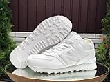 🔥 Кроссовки ботинки женские зимние New Balance 574 белые замшевые замша теплые на меху меховые, фото 3