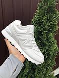 🔥 Кроссовки ботинки женские зимние New Balance 574 белые замшевые замша теплые на меху меховые, фото 4