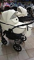 Универсальная коляска 2в1 Victoria Gold Classic Белый Эко кожа