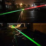 Зеленая лазерная указка высокой мощности с регулируемым фокусом и аккумулятором 1000 метров, фото 9
