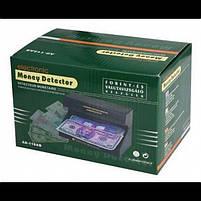Ультрафіолетовий Детектор валют AD-118AB Чорний апарат для розпізнання підробок, фото 2