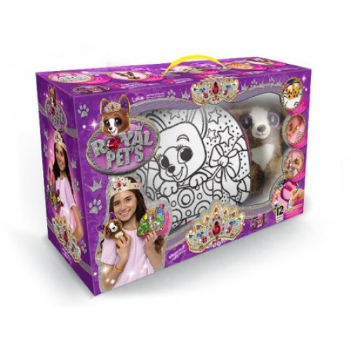 Сумка-раскраска + кристаллы Royal Pets 07 с собачкой Lola (сделай корону браслет ошейник) (1/7) ДТ