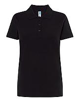 Черные поло футболки женские JHK POLO REGULAR