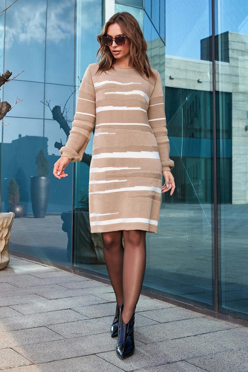 Тепле в'язана сукня «Лінда», 46-56