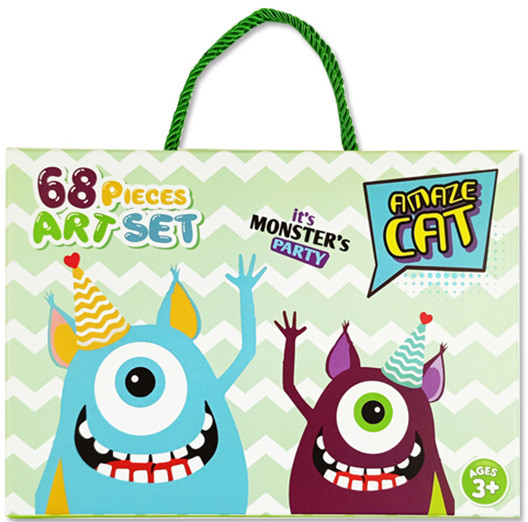 Детский набор для рисования Amazecat на 68 предметов, модель Monster's party