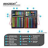 Детский набор для рисования Amazecat на 68 предметов, модель Monster's party, фото 5