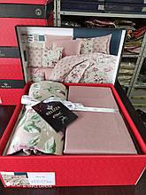 Комплект постельного белья из фланели евро размер ТМ Belizza Amore bej