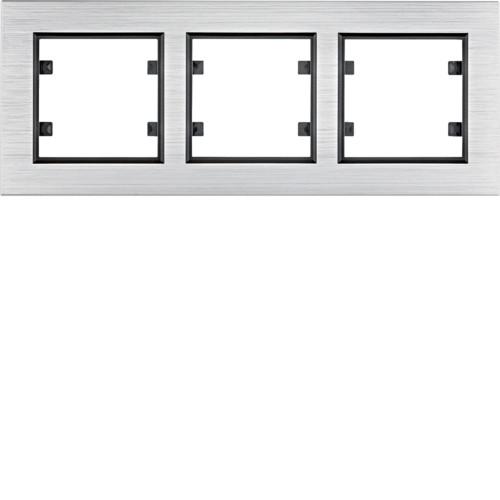Рамка 3Х горизонтальная Lumina-Passion серебристый алюминий