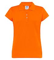 Оранжевые поло футболки женские JHK POLO REGULAR