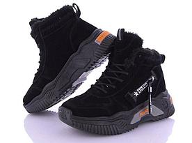 Модні черевики зимові замшеві Seven (SE001) жіночі на хутрі