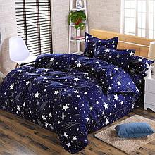 Байковый  комплект постельного белья Байка ( фланель)  Звезды