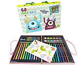 Детский набор для рисования Amazecat на 68 предметов, модель Monster's party, фото 2