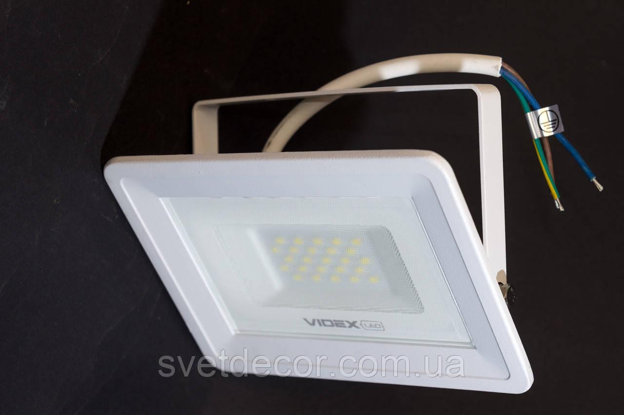 Светодиодный LED прожектор VIDEX 20W 5000K 220V VL-Fe205W белый