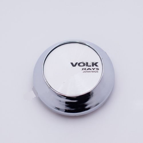 Колпачок для диска    VOLK RACING конус/хром/cеребристый лого (62-68 мм)