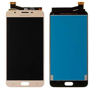 Модуль для Samsung Galaxy J7 Prime, Samsung G610, золотистый, дисплей + сеносор
