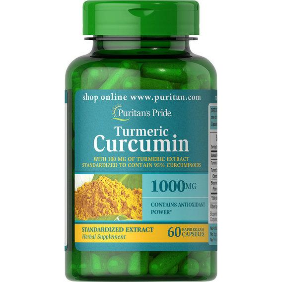 Puritan's Pride Turmeric Curcumin 1000 mg with Bioperine 5 mg 60 Capsules