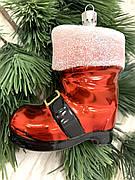 Ялинкова прикраса - червоний чобіток ( 9 см )