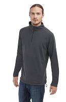 Мужской флисовый пуловер с короткой молнией