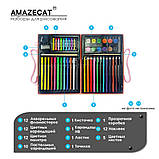 Детский набор для рисования Amazecat на 68 предметов, модель Pink Unicorn, фото 5
