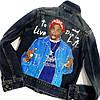 Ручная роспись вашей джинсовой куртки на заказ слюбым рисунком