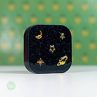 Дорожный набор для линз Звездное небо, черный, компактный