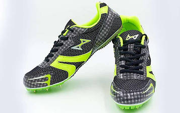 Шиповки бігові Health (р-р 36-45, 7 шипів, чорно-зелений)