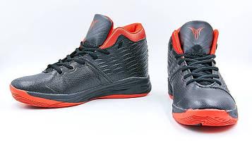 Кросівки баскетбольні чоловічі Jordan (р-р 41-45, чорно-червоний) Репліка