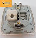 Розетка компьютерная VI-KO Carmen (интернет) скрытой установки (белая), фото 3