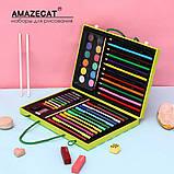 Детский набор для рисования Amazecat на 68 предметов, модель Pink Unicorn, фото 2