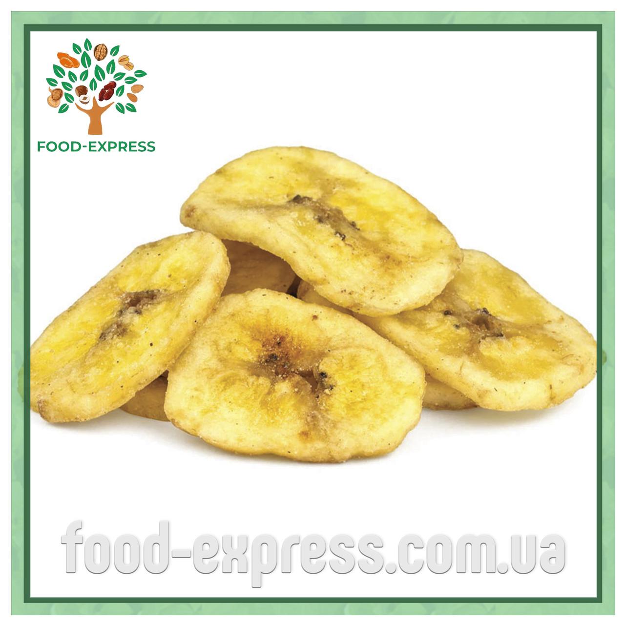 Банановые чипсы 200г Вьетнам, натуральные сушенные колечками, фруктовые чипсы