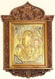 Казанська ікона М. Б. в ризі різьбленому кіоті №2 (40х58)
