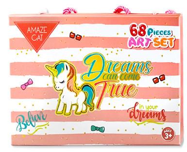 Детский набор для рисования Amazecat на 68 предметов, модель Pink Unicorn
