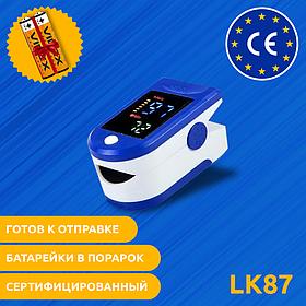 Электронный пульсоксиметр на палец Pulse Oximeter LK87 | Пульсометр, оксиметр