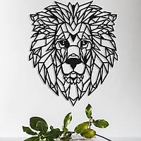 Объемная картина из дерева Царь Лев (Lion) 50 x 35 см