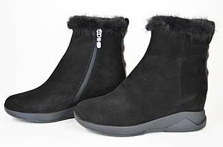 Ботинки норка цигейка Sufinna 335011 черные замша 40, фото 3
