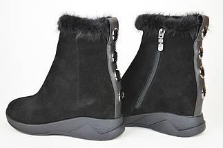 Ботинки норка цигейка Sufinna 335011 черные замша 40, фото 2