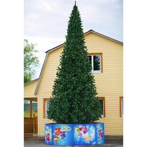 Литая искусственная елка Ковалевская 4 метра зеленая ель