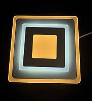 Светодиодный потолочный светильник квадрат 18 ватт, фото 1