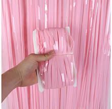 Фольгована шторка рожевий 1,2*2 метри