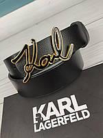 Женский кожаный ремень в стиле Karl Lagerfeld Карл Лагерфельд