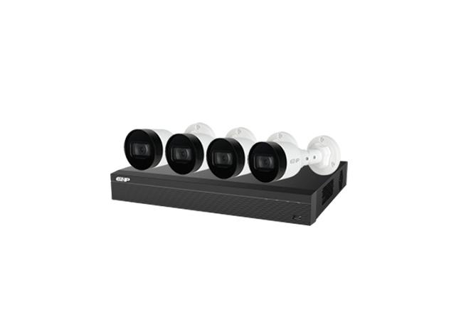 Комплект IP видеонаблюдения Dahua Full HD 1080, 4 камеры 2 MP, POE