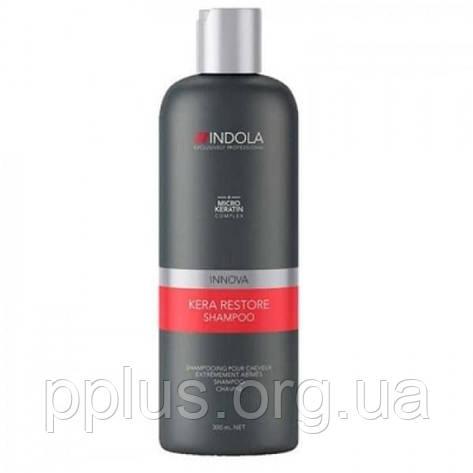 Шампунь для волос кератиновое восстановление Indola Kera Restore 300 мл, фото 2